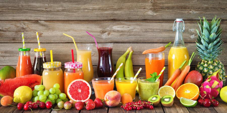 Правильный выбор соковой продукций из фруктов и овощей